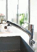 KVK/ビルトイン式/浄水器/Eレバー/シャワー引き出しタイプ/シングルレバー/混合水栓[ KM5061NEC]